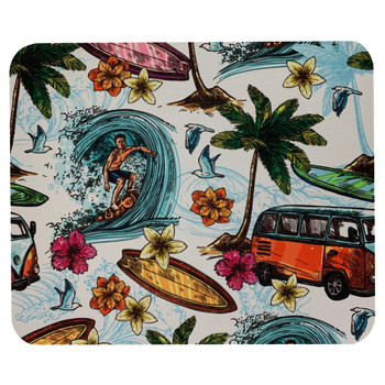 Tropical Surf Beach Mouse Pad Mat