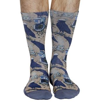 Coffee Raven Men's Crew Socks