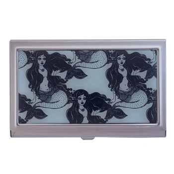 Nautical Mermaids ID Case Metal Wallet