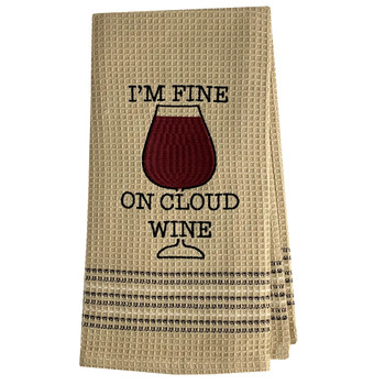 On Cloud Wine Kitchen Dish Towel