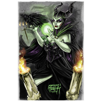 Kris Chisholm Maleficent Art Print