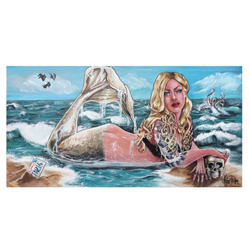 Kris Chisholm Mermaid Canvas Giclee Art Print