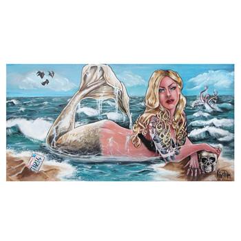 Kris Chisholm Mermaid Canvas Giclee Art Print