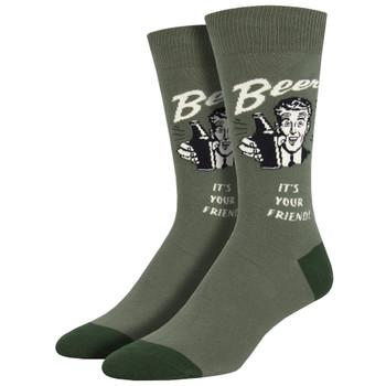 Men's Crew Socks Have A Beer