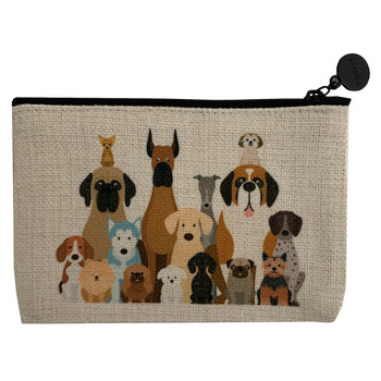 Lots of Dogs Linen Zippered Pouch