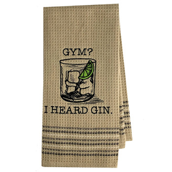 Gym or Gin Kitchen Dish Towel