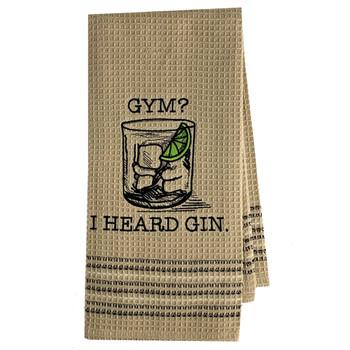 Gym or Gin Kitchen Dish Towel