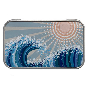 Surf and Sun Small Metal Tin Storage Box