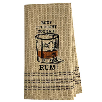 Rum Funny Witty Saying Dish Towel
