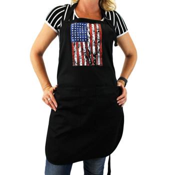 Rugged Amercian Flag cotton apron.