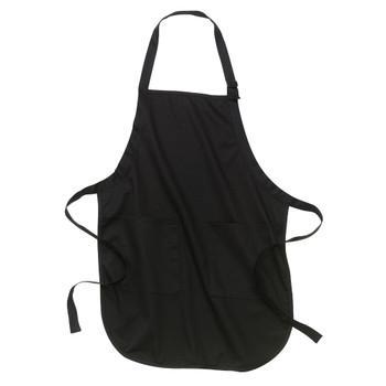 Black cotton apron