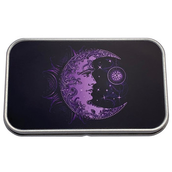 Purple Crescent Moon Small Storage Box