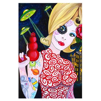 Melody Smith Martian Girl Art Print