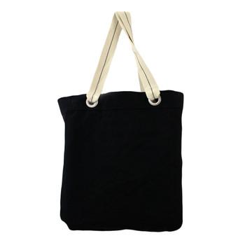 Backside of owl tote bag.