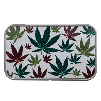 Marijuana Leaf Madness Small Storage Stash Box