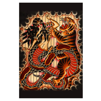 Naga Tiger by Brother Greg Art Print
