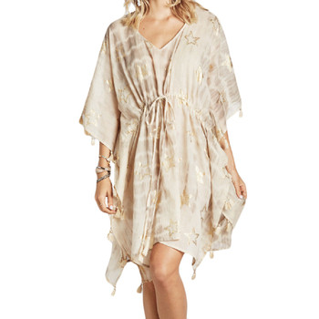 Boho cover-up with gold stars.