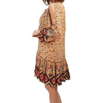 Women's Nala boho mini dress side view.