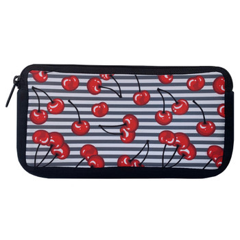 Rockabilly Cherries Cosmetic Bag Zippered Pouch