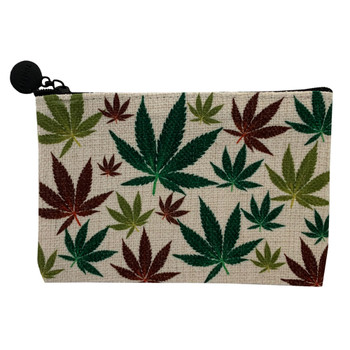 Marijuana Leaf Madness Small Cosmetic Bag