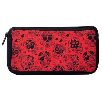 Red Sugar Skulls Cosmetic Bag