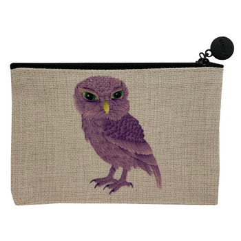 Purple Owl Small Cosmetic Bag