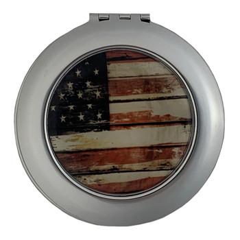 USA Flag Compact Mirror