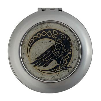 Moon Raven Compact Mirror
