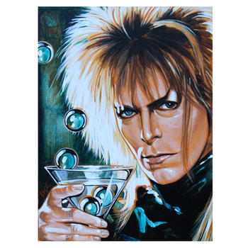 David Bowie The Goblin King Canvas