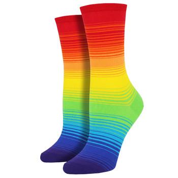 Rainbow Women's Crew Socks