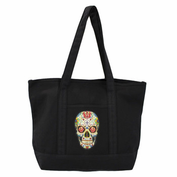 Sugar Skull Large Tote Bag