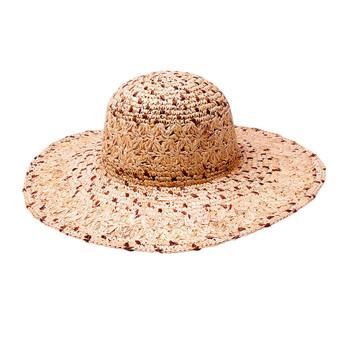 Raffia straw Boca resort hat.