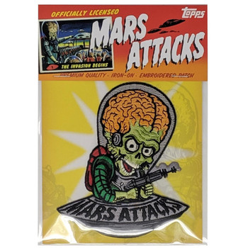 Mars Attacks Cartoon Invader Patch packaging view