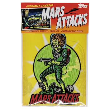 Mars Attacks Death Trooper Patch packaging view