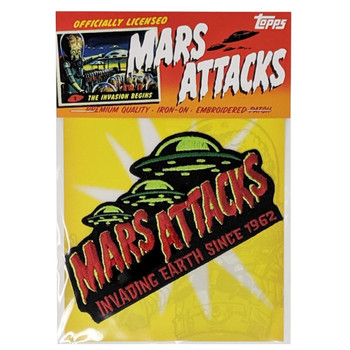 Mars Attacks Invading Earth Patch packaging view