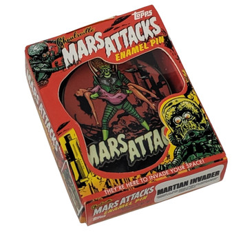 Mars Attacks Victim Martian Enamel Pin box view