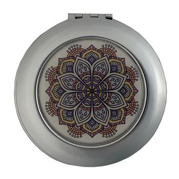 Purple Mandala Compact Mirror