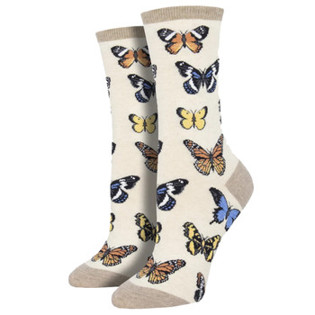 Butterfly Women's Crew Socks