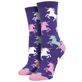 Dream Big Unicorns Women's Crew Socks