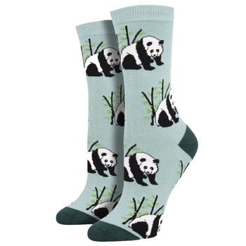 Bamboo Panda Bear Women's Crew Socks