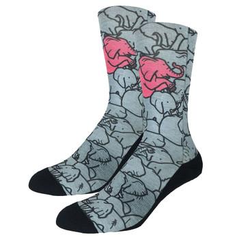 Elephants Men's Trouser Crew Socks side view