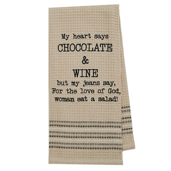 Chocolate and Wine Kitchen Dishtowel