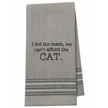 Cat Waffle Weave Dishtowel