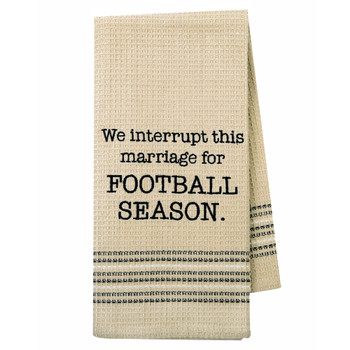 Football Season Kitchen Dishtowel