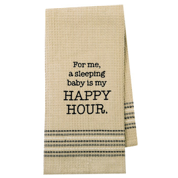 Sweet Dreams Happy Hour Kitchen Dishtowel