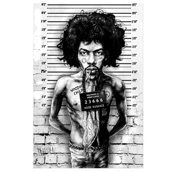 Marcus Jones Jimi Mugshot Art Print