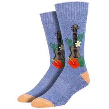Ukulele In Paradise Men's Crew Socks