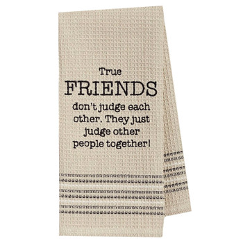 True Friends Kitchen Dishtowel