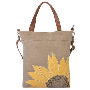 Mona B Sunflower Canvas Tote Bag
