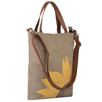 Mona B. Sunflower Canvas Tote Bag side view